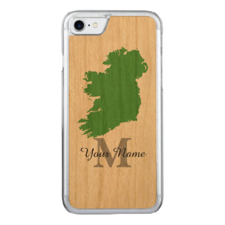 map of Ireland monogrammed Carved iPhone 7 Case