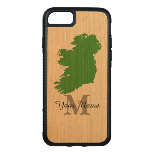 purchase cheap 35150 3b7af map of Ireland monogrammed Carved Wood iPhone Case