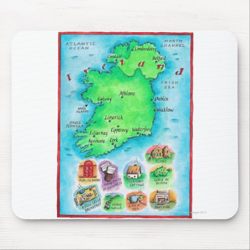 Map of Ireland Mouse Pad