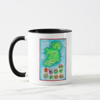 Map of Ireland Mug