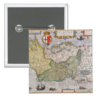 Map of Ireland Pinback Button
