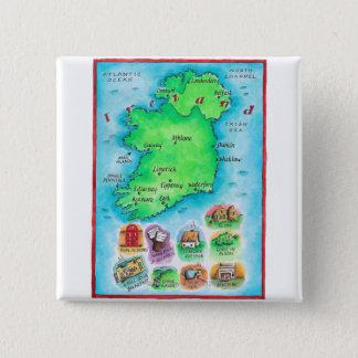 Map of Ireland Pinback Button
