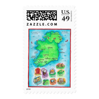 Map of Ireland Postage