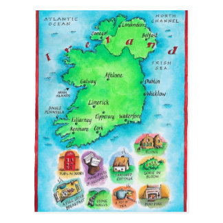Map of Ireland Post Cards