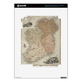 Map of Ireland, published c.1850 (hand-coloured en iPad 3 Skin
