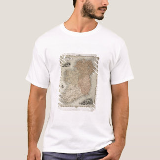 Map of Ireland, published c.1850 (hand-coloured en T-Shirt