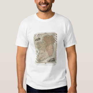Map of Ireland, published c.1850 (hand-coloured en Tee Shirts