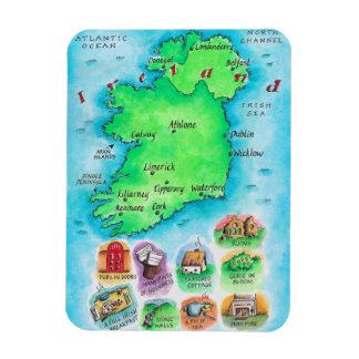 Map of Ireland Rectangular Photo Magnet