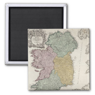 Map of Ireland showing the Provinces of Ulster 2 Inch Square Magnet