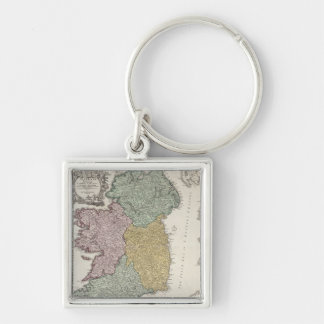 Map of Ireland showing the Provinces of Ulster Keychain