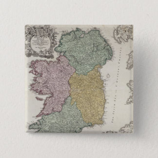 Map of Ireland showing the Provinces of Ulster Pinback Button