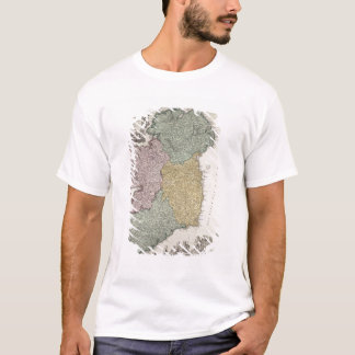Map of Ireland showing the Provinces of Ulster T-Shirt