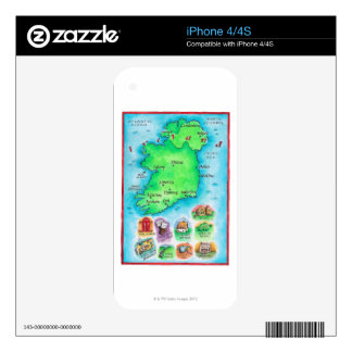 Map of Ireland iPhone 4S Decal