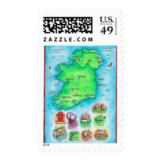 Map of Ireland Stamp