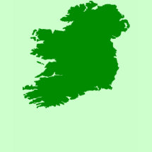 Map Of Ireland T-Shirt - A beautiful silhouette of the Emerald Isle - great for St. Patrick's Day or whenever you want to show pride in your heritage.