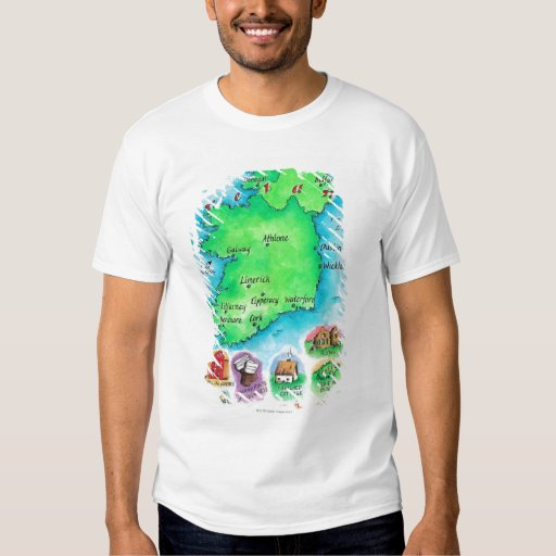 Map of Ireland Tshirts