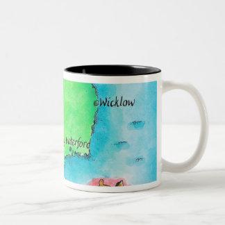 Map of Ireland Two-Tone Coffee Mug