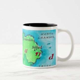 Map of Ireland Two-Tone Coffee Mug