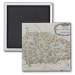 Map of Island of St. Helena 2 Inch Square Magnet