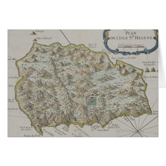 Map of Island of St. Helena Card