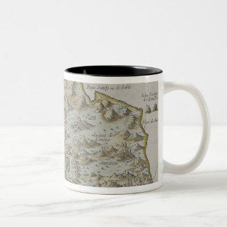 Map of Island of St. Helena Two-Tone Coffee Mug