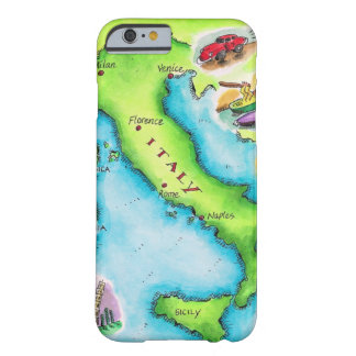 Map of Italy 2 Barely There iPhone 6 Case