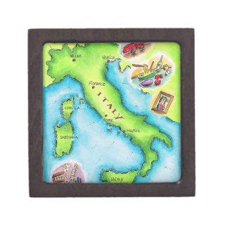 Map of Italy 2 Keepsake Box