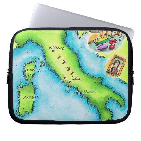 Map of Italy 2 Laptop Sleeve