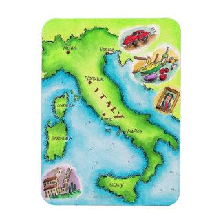 Map of Italy 2 Rectangular Photo Magnet