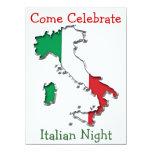 "Map of Italy 5.5"" X 7.5"" Invitation Card"