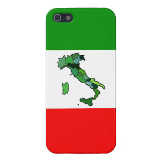 Map of Italy and Italian Flag Cases For iPhone 5