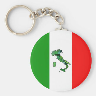 Map of Italy and Italian Flag Keychains