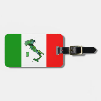 Map of Italy and Italian Flag. Tag For Luggage