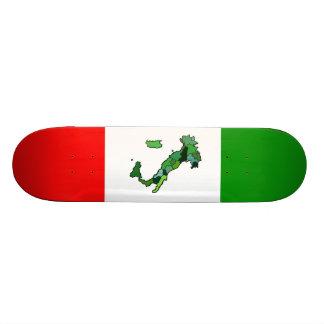Map of Italy and Italian Flag Skateboard
