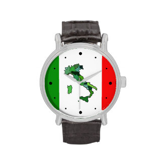 Map of Italy and Italian Flag Wristwatch