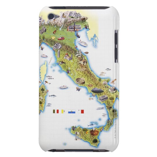 Map of Italy Barely There iPod Case