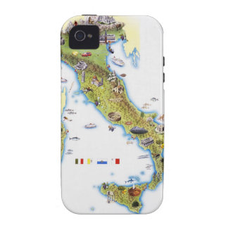 Map of Italy iPhone 4 Cover