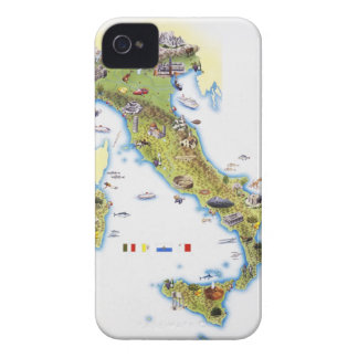 Map of Italy iPhone 4 Case-Mate Case