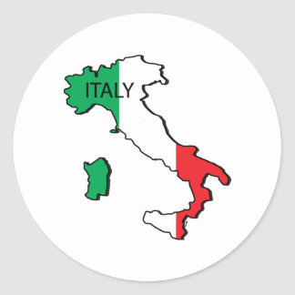Map Of Italy Classic Round Sticker