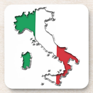 Map of Italy Drink Coasters