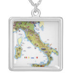 Map of Italy Custom Necklace