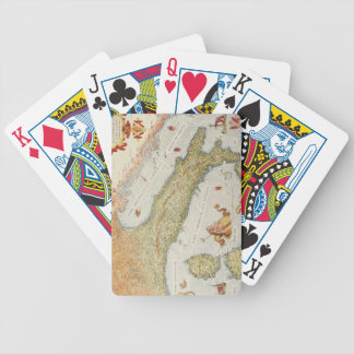 Map of Italy in 1500 Bicycle Poker Cards