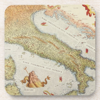 Map of Italy in 1500 Coasters