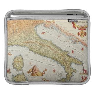 Map of Italy in 1500 iPad Sleeve