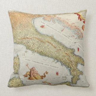 Map of Italy in 1500 Throw Pillow