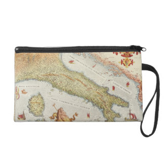 Map of Italy in 1500 Wristlet
