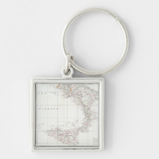 Map of Italy Keychain