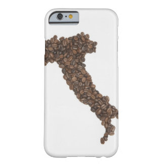 Map of Italy made of Coffee Beans Barely There iPhone 6 Case