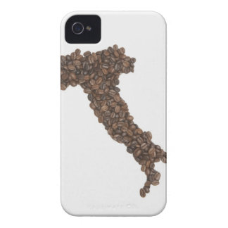 Map of Italy made of Coffee Beans iPhone 4 Case