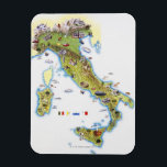 """Map of Italy Magnet<br><div class=""""desc"""">Asset ID: 75489636 / Brian Delf / Map of Italy</div>"""